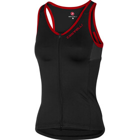 Castelli Solare SL Top Damer, black/red
